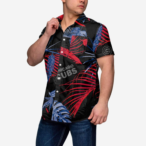 Chicago Cubs Neon Palm Button Up Shirt