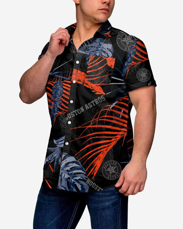 Houston Astros Neon Palm Button Up Shirt FOCO S - FOCO.com