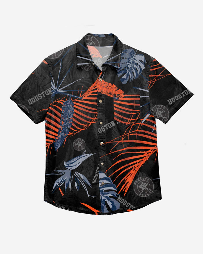 Houston Astros Neon Palm Button Up Shirt FOCO - FOCO.com