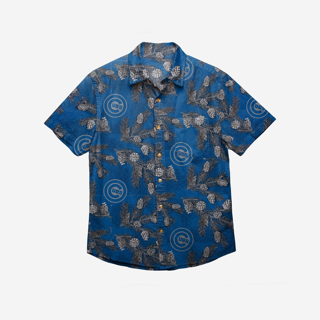 Chicago Cubs Mens Pinecone Button Up Shirt