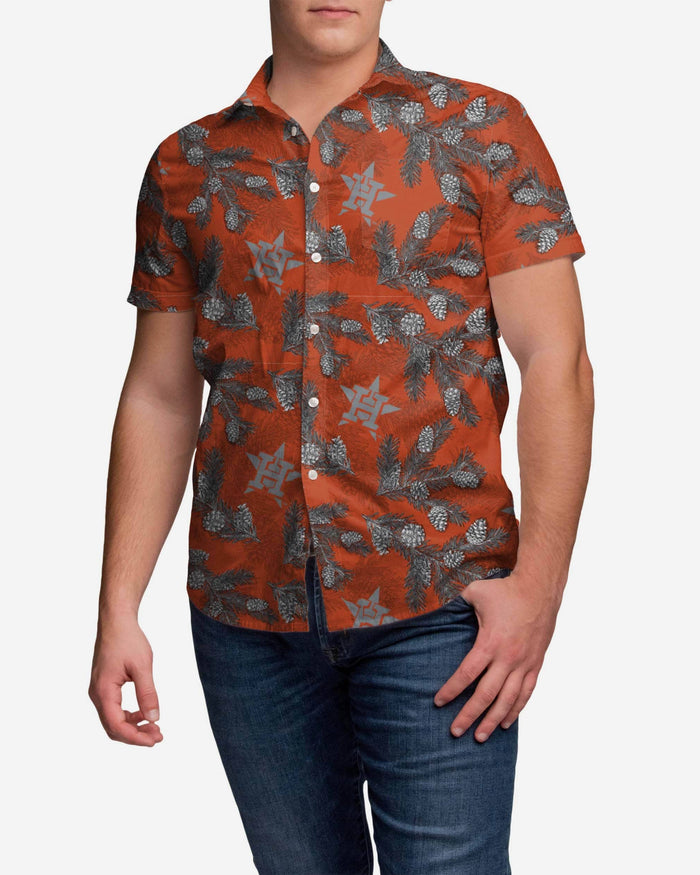 Houston Astros Pinecone Button Up Shirt FOCO M - FOCO.com