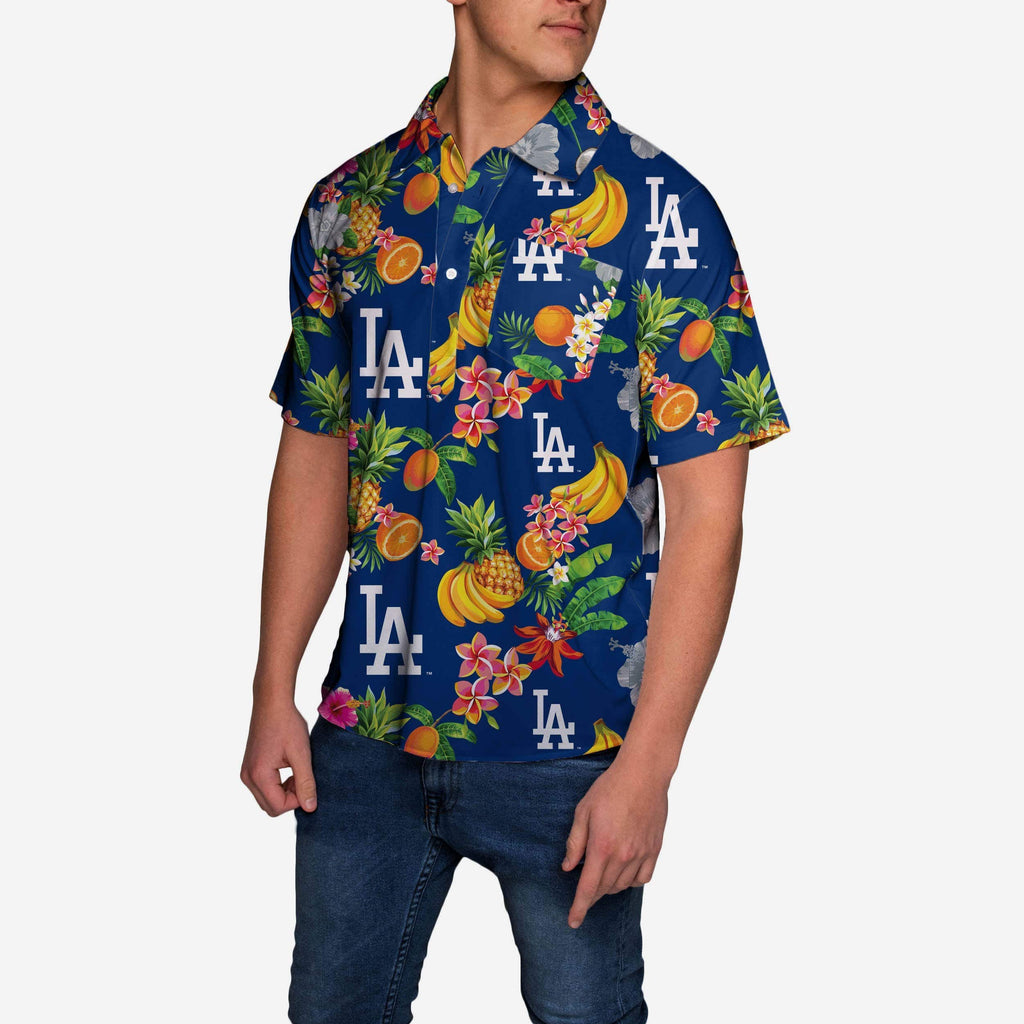 Los Angeles Dodgers Fruit Flair Short Sleeve Polo Shirt FOCO - FOCO.com
