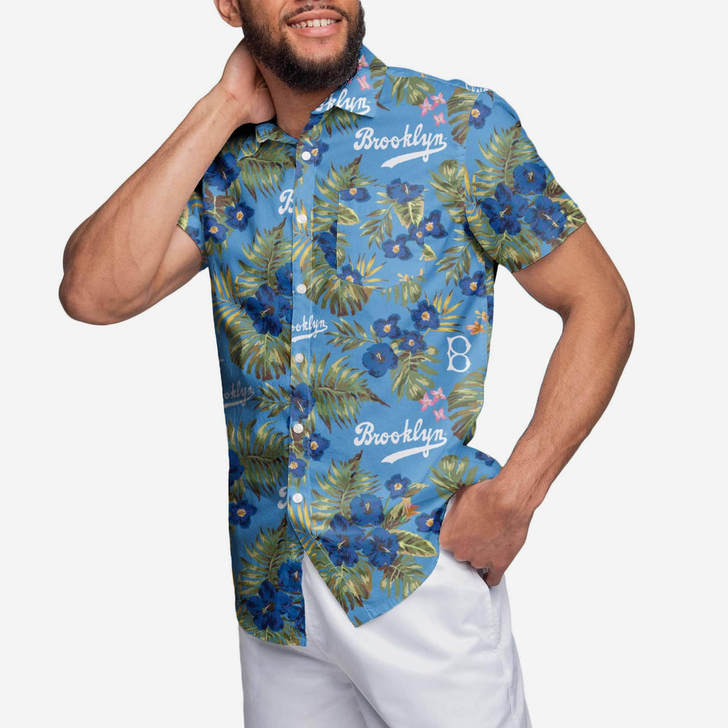 Los Angeles Dodgers Throwback Threads Button Up Shirt FOCO - FOCO.com