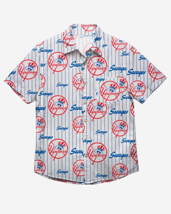 New York Yankees Savages Button Up Shirt FOCO - FOCO.com