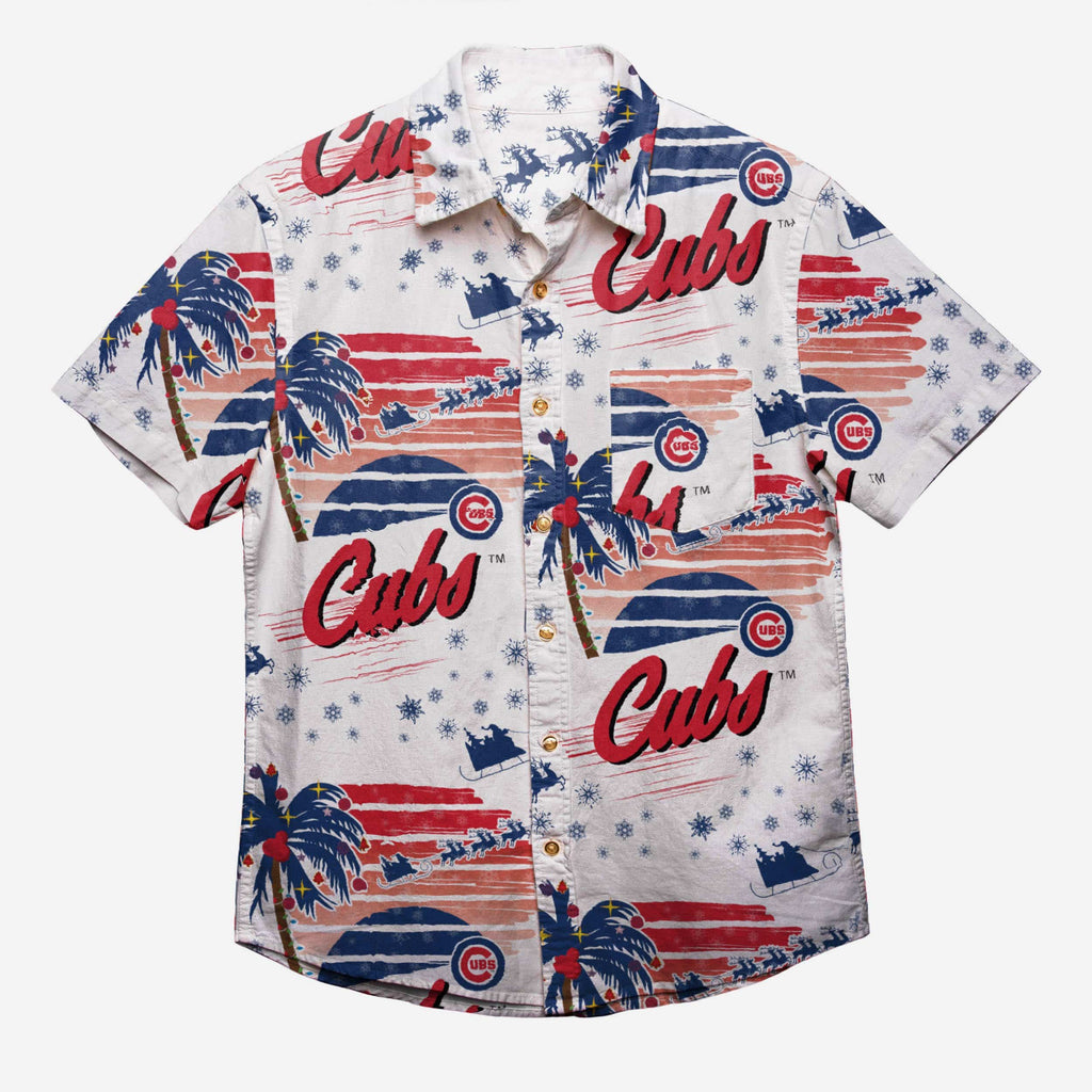 Chicago Cubs Winter Tropical Button Up Shirt