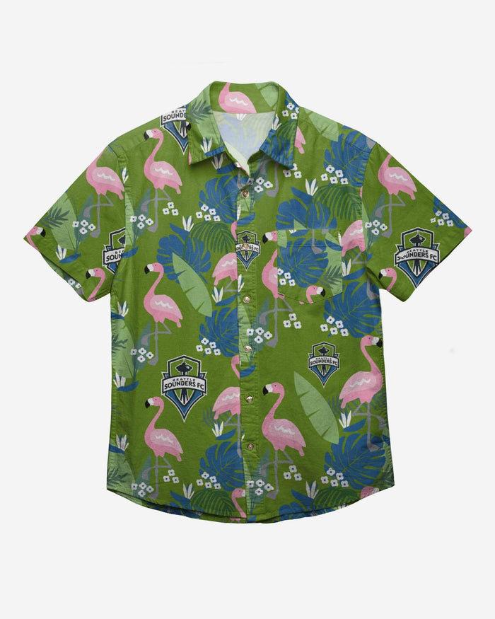 Seattle Sounders FC Floral Button Up Shirt FOCO - FOCO.com