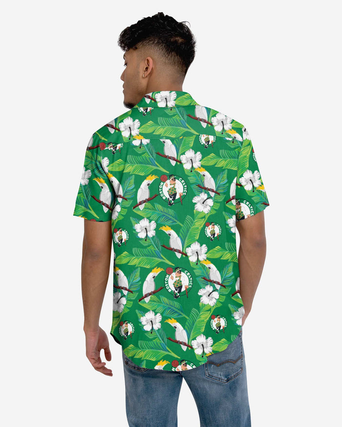 Boston Celtics Floral Button Up Shirt FOCO - FOCO.com