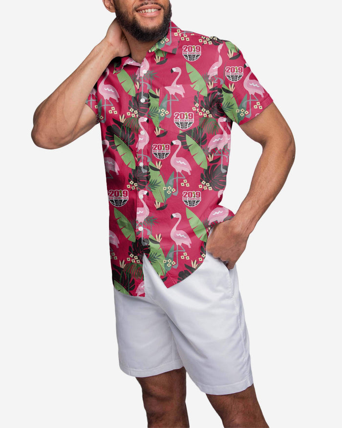 Toronto Raptors 2019 NBA Champions Floral Button Up Shirt FOCO S - FOCO.com