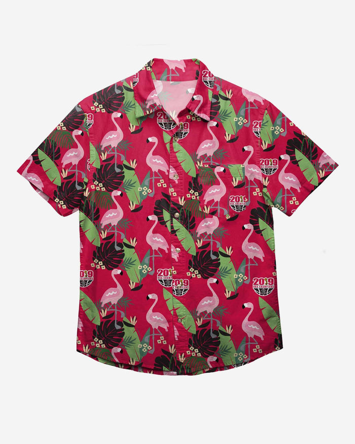 Toronto Raptors 2019 NBA Champions Floral Button Up Shirt FOCO - FOCO.com