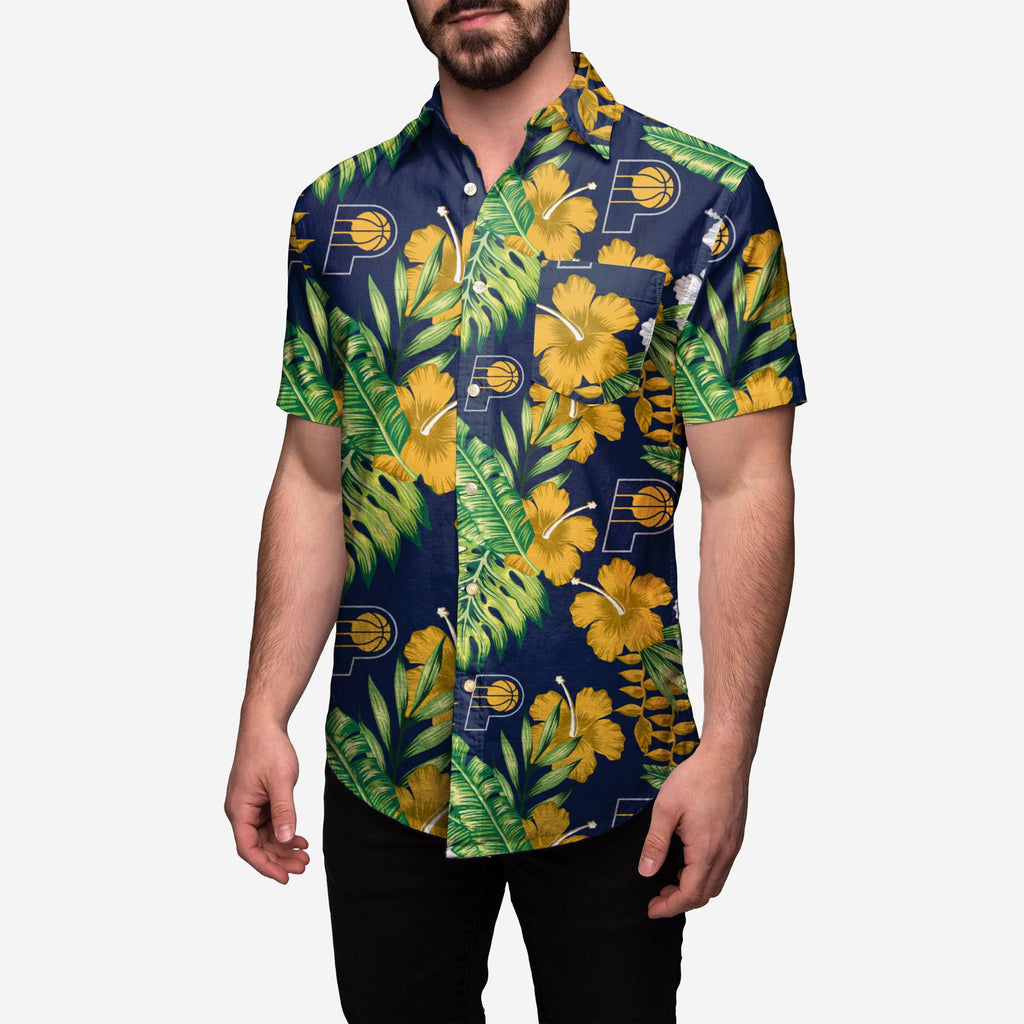 Indiana Pacers Floral Button Up Shirt FOCO 2XL - FOCO.com