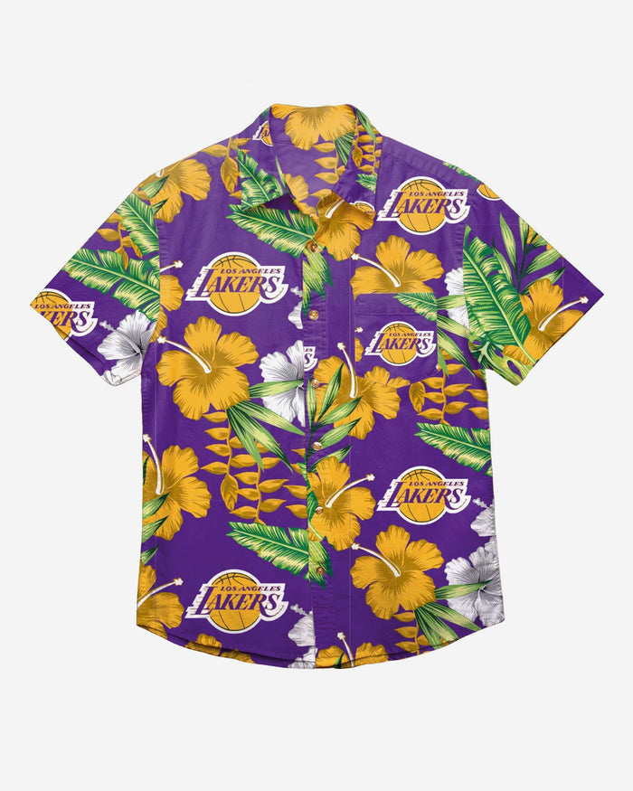 Los Angeles Lakers Floral Button Up Shirt FOCO - FOCO.com