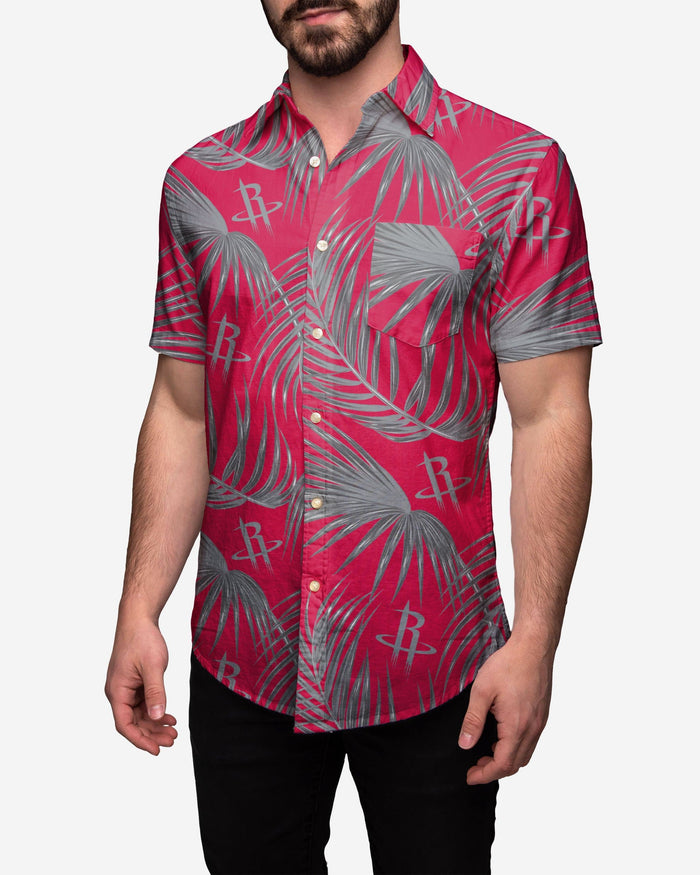 Houston Rockets Hawaiian Button Up Shirt FOCO 3XL - FOCO.com