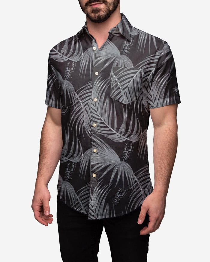 San Antonio Spurs Hawaiian Button Up Shirt FOCO 2XL - FOCO.com