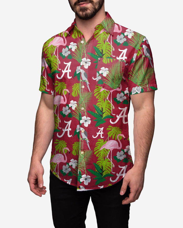 Alabama Crimson Tide Floral Button Up Shirt FOCO 2XL - FOCO.com