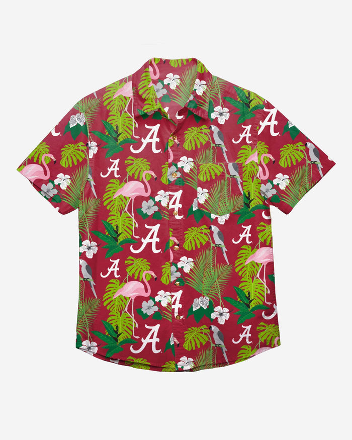 Alabama Crimson Tide Floral Button Up Shirt FOCO - FOCO.com