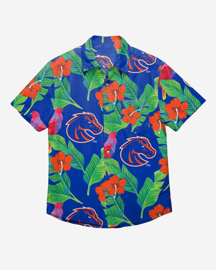 Boise State Broncos Floral Button Up Shirt FOCO - FOCO.com