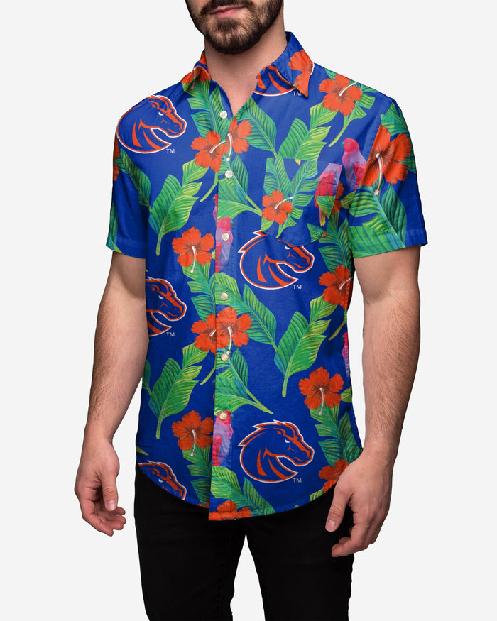 Boise State Broncos Floral Button Up Shirt FOCO 2XL - FOCO.com