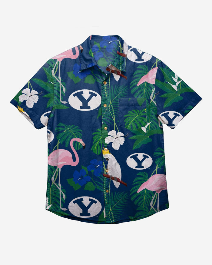 BYU Cougars Floral Button Up Shirt FOCO - FOCO.com