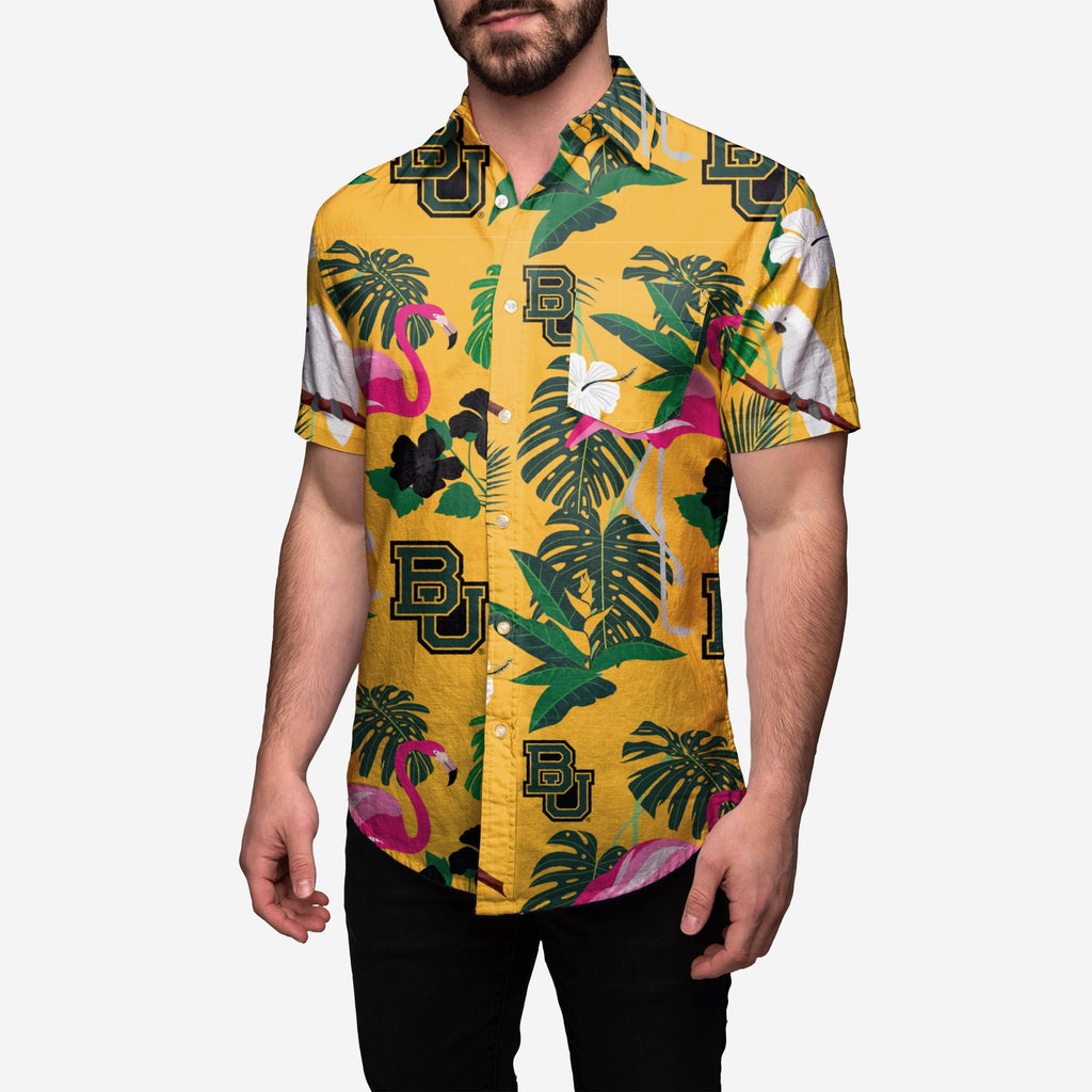 Baylor Bears Floral Button Up Shirt FOCO 2XL - FOCO.com