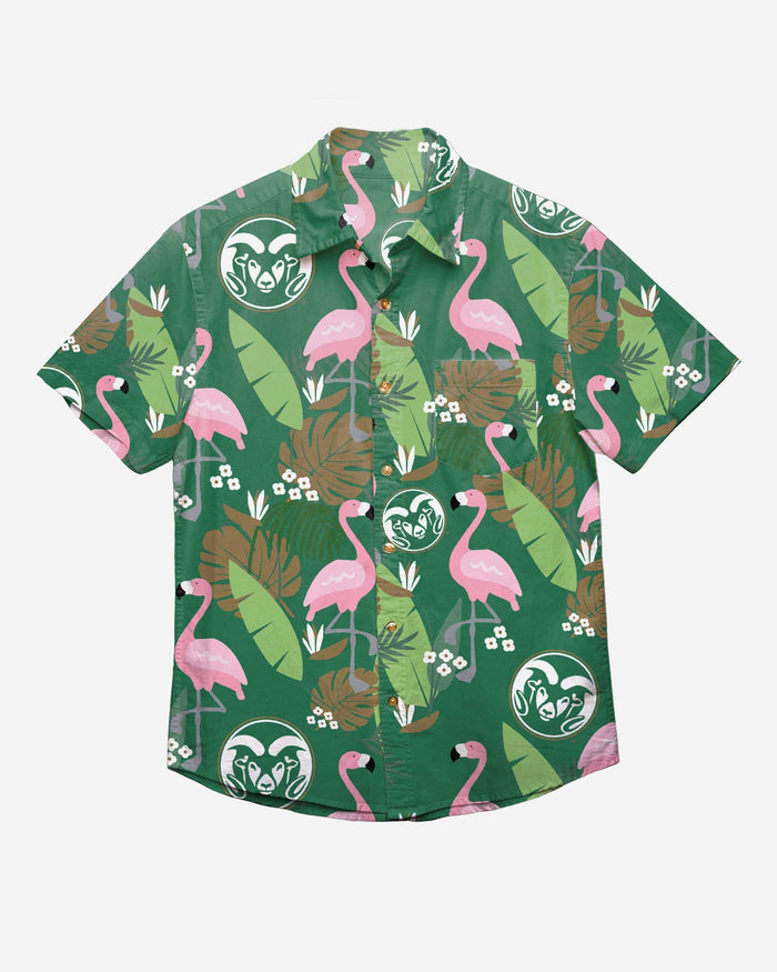Colorado State Rams Floral Button Up Shirt FOCO - FOCO.com