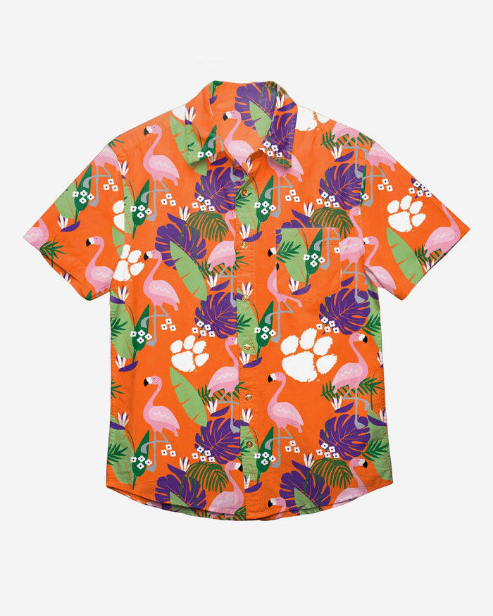 Clemson Tigers Floral Button Up Shirt FOCO - FOCO.com