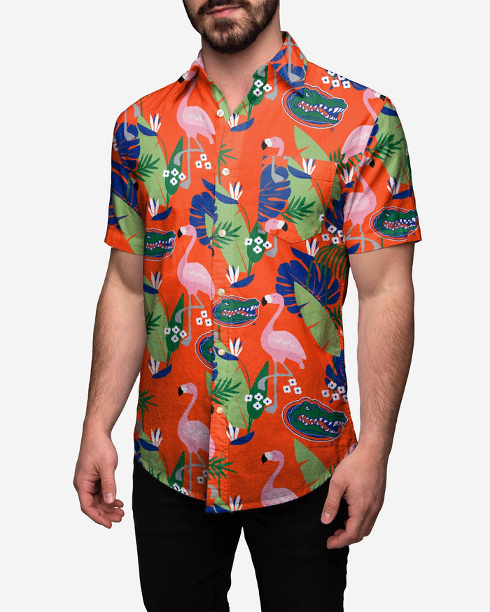 Florida Gators Floral Button Up Shirt FOCO 2XL - FOCO.com