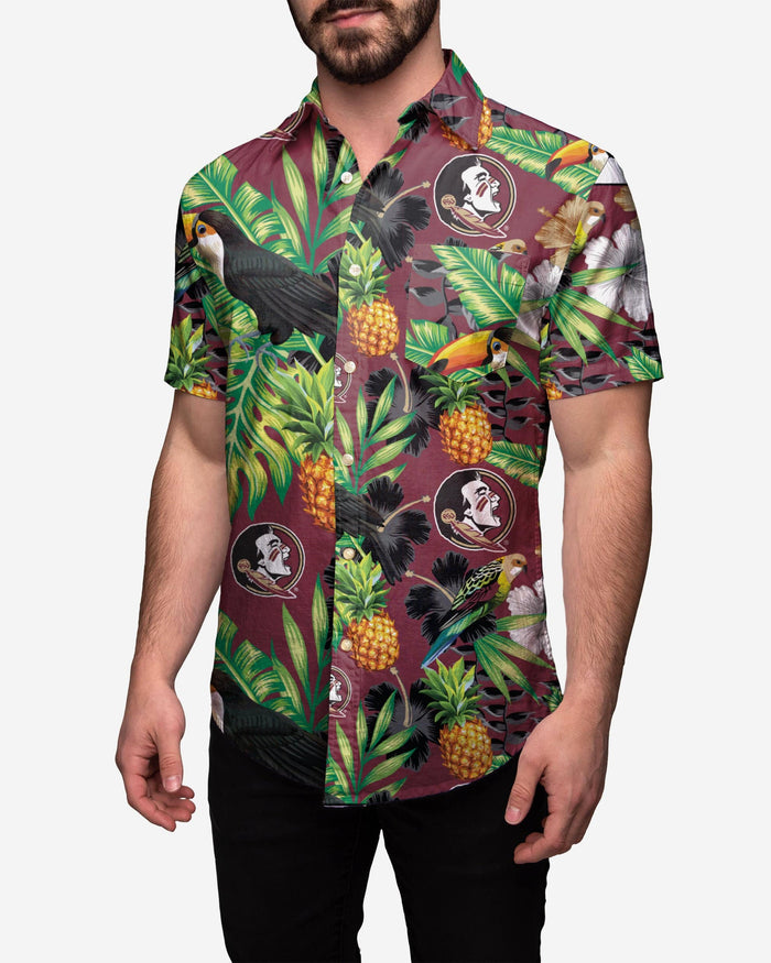 Florida State Seminoles Floral Button Up Shirt FOCO 2XL - FOCO.com