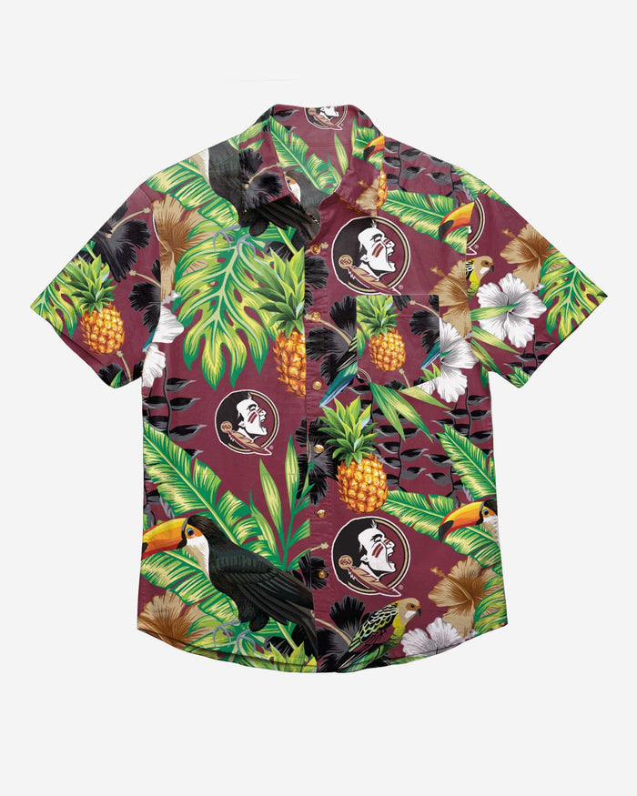 Florida State Seminoles Floral Button Up Shirt FOCO - FOCO.com