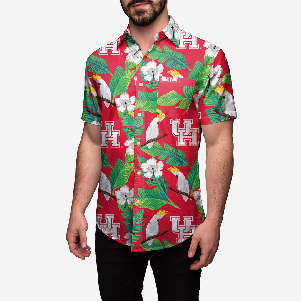 Houston Cougars Floral Button Up Shirt FOCO - FOCO.com