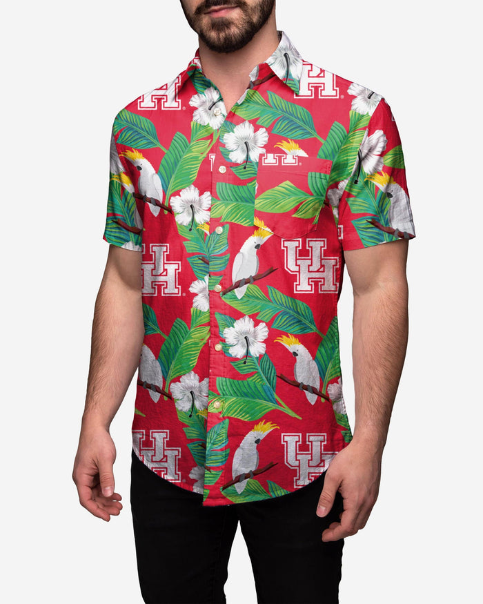 Houston Cougars Floral Button Up Shirt FOCO 2XL - FOCO.com