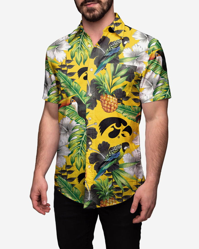 Iowa Hawkeyes Floral Button Up Shirt FOCO 2XL - FOCO.com