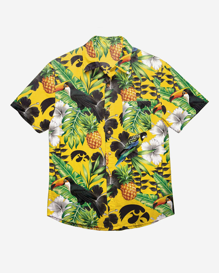 Iowa Hawkeyes Floral Button Up Shirt FOCO - FOCO.com