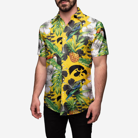 Iowa Hawkeyes Floral Button Up Shirt