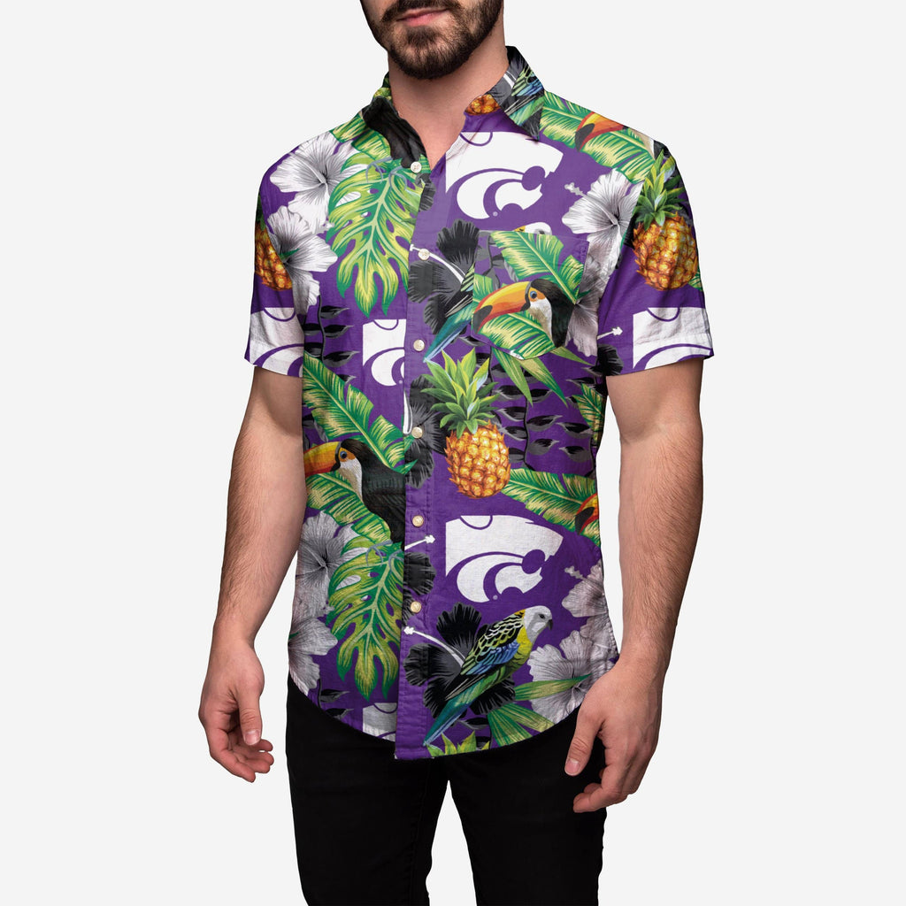 Kansas State Wildcats Floral Button Up Shirt FOCO - FOCO.com