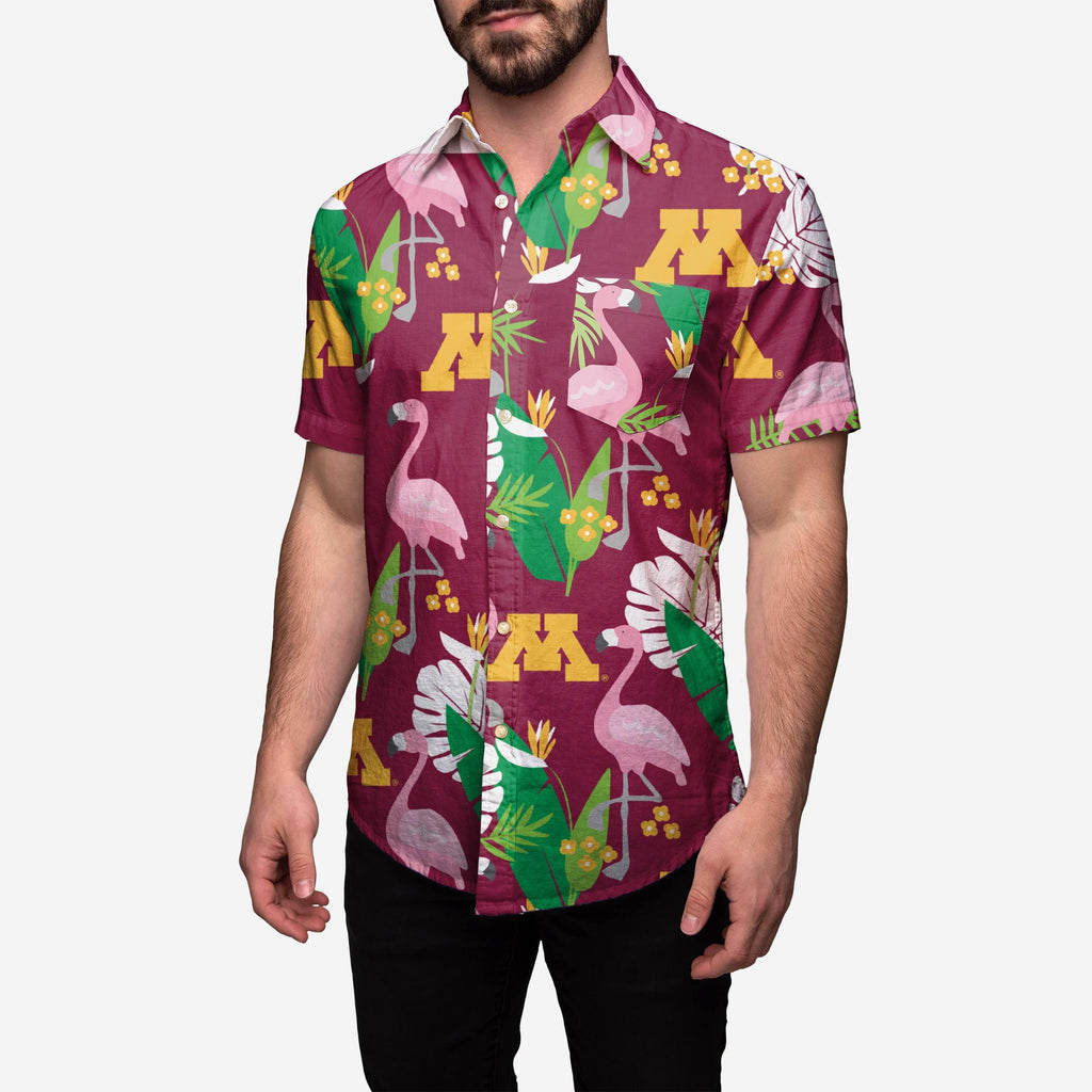 Minnesota Golden Gophers Floral Button Up Shirt FOCO - FOCO.com