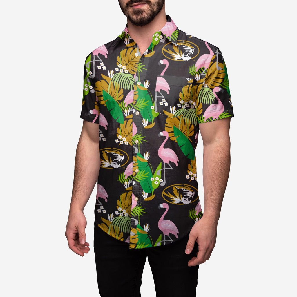 Missouri Tigers Floral Button Up Shirt FOCO 2XL - FOCO.com