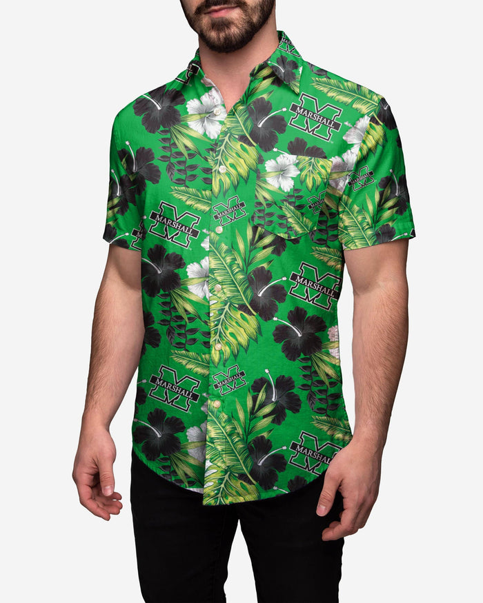 Marshall Thundering Herd Floral Button Up Shirt FOCO 2XL - FOCO.com
