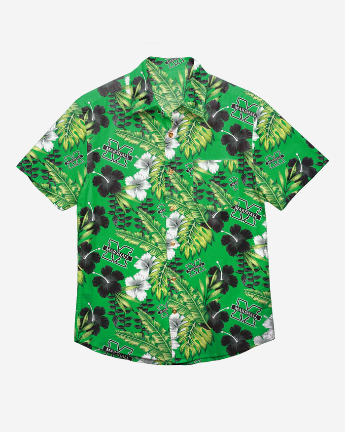 Marshall Thundering Herd Floral Button Up Shirt FOCO - FOCO.com