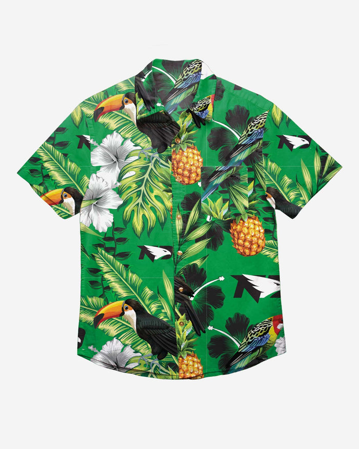 North Dakota Fighting Hawks Floral Button Up Shirt FOCO - FOCO.com