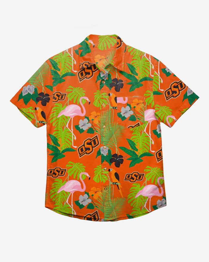 Oklahoma State Cowboys Floral Button Up Shirt FOCO - FOCO.com