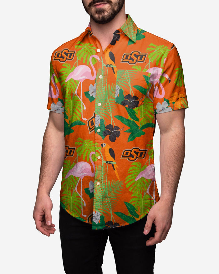 Oklahoma State Cowboys Floral Button Up Shirt FOCO 2XL - FOCO.com