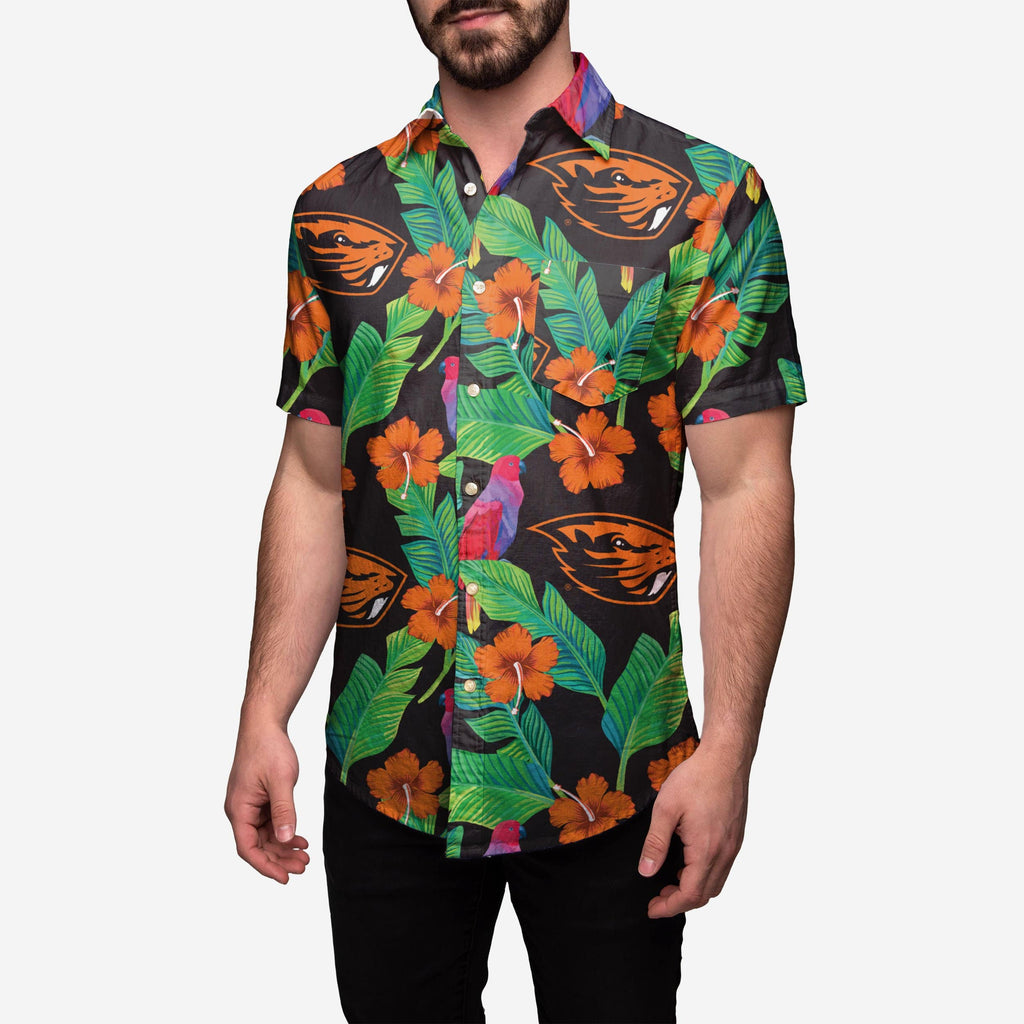Oregon State Beavers Floral Button Up Shirt FOCO 2XL - FOCO.com