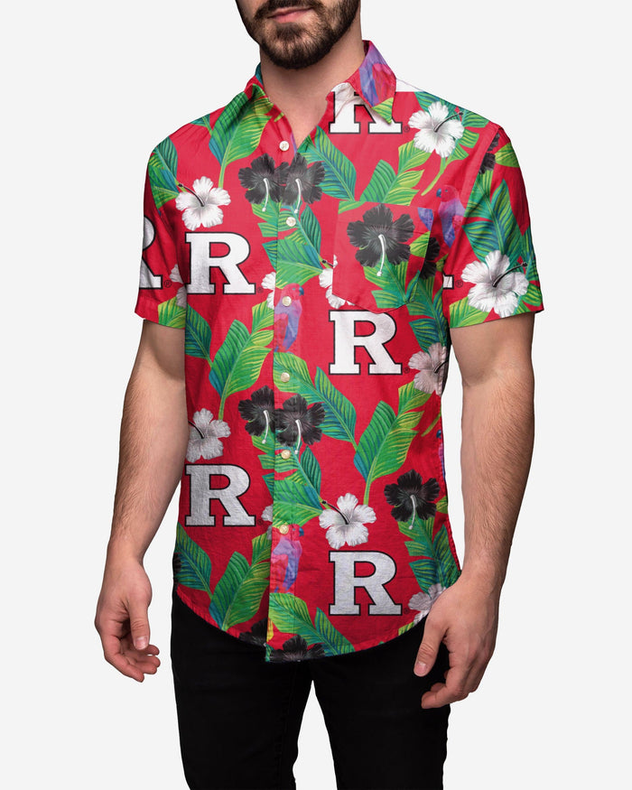 Rutgers Scarlet Knights Floral Button Up Shirt FOCO 2XL - FOCO.com