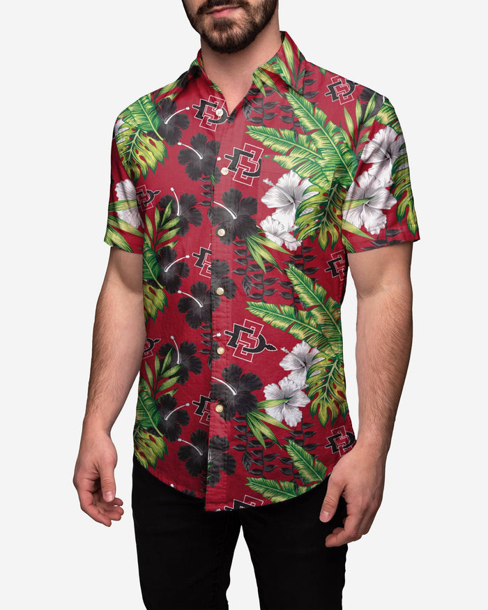 San Diego State Aztecs Floral Button Up Shirt FOCO 2XL - FOCO.com