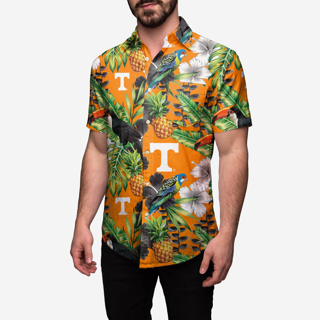 Tennessee Volunteers Floral Button Up Shirt FOCO 2XL - FOCO.com