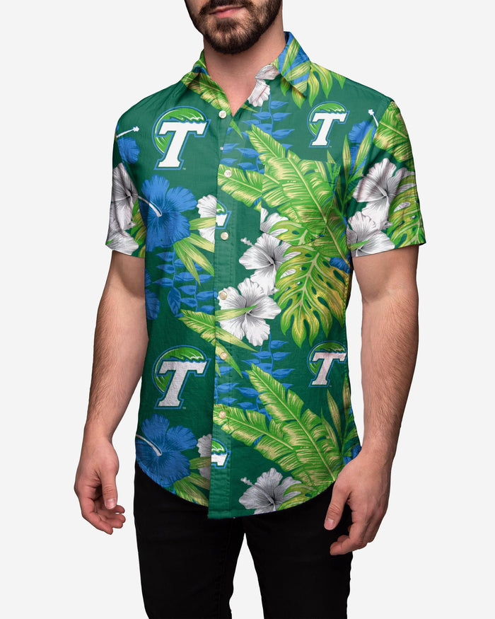 Tulane Green Wave Floral Button Up Shirt FOCO 2XL - FOCO.com