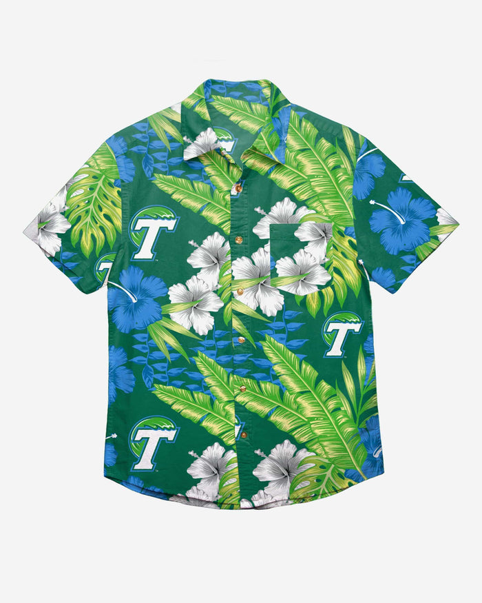 Tulane Green Wave Floral Button Up Shirt FOCO - FOCO.com