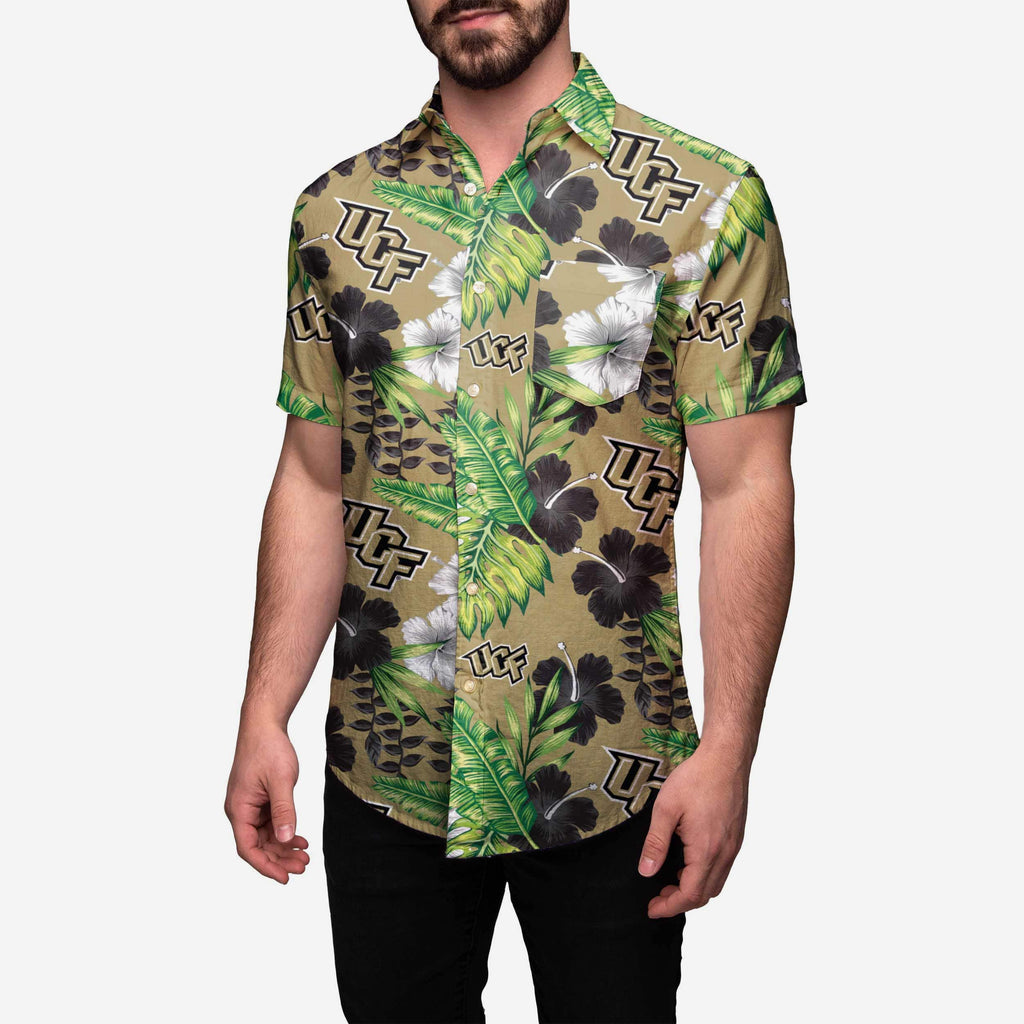 UCF Knights Floral Button Up Shirt FOCO - FOCO.com