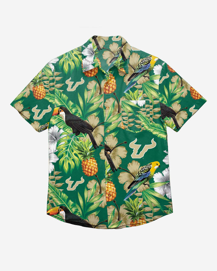 South Florida Bulls Floral Button Up Shirt FOCO - FOCO.com