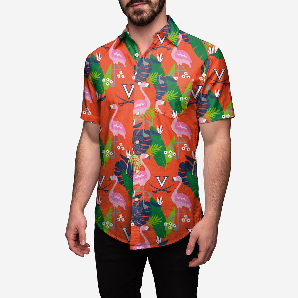 Virginia Cavaliers Floral Button Up Shirt FOCO 2XL - FOCO.com